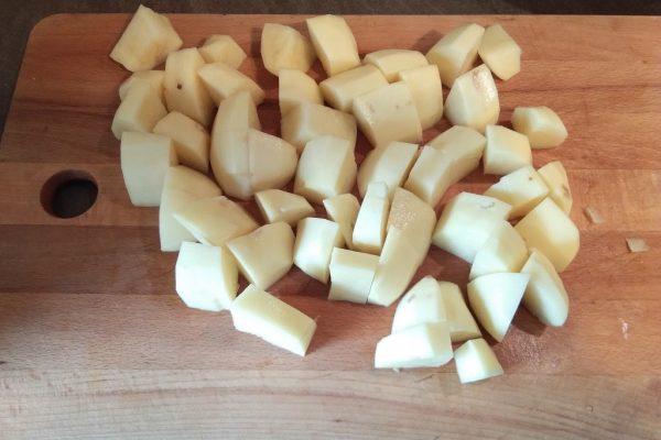 Pokrojone ziemniaki