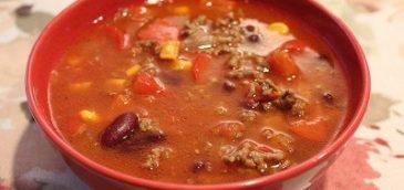 Słodko-pikantna zupa meksykańska