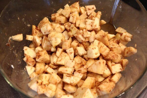 Przygotowane jabłka