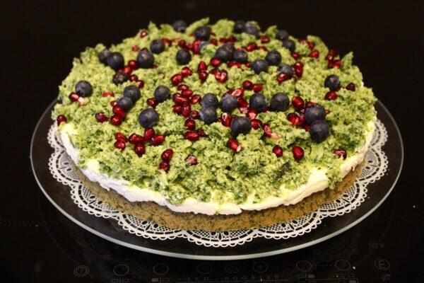 Gotowe ciasto leśny mech